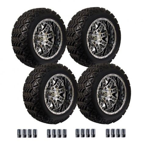 14' Megastar Wheel on 23' Backlash X Tire Set - Matte Black