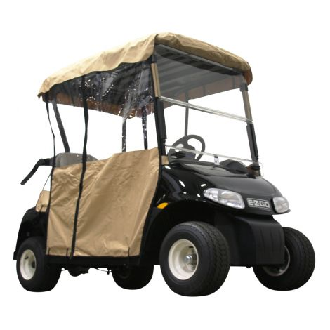 2 Pass Enclosure for EZGO RXV | Tan