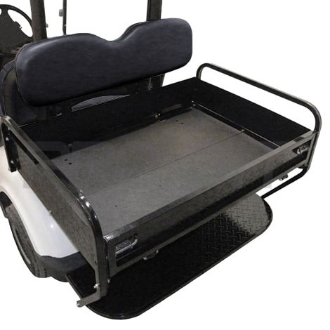 Rear Folding Seat Box Kit for Yamaha Drive- Black