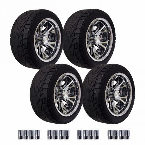 12' Optimus Wheel on 215/50 Backlash Street Tire Set - Chrome