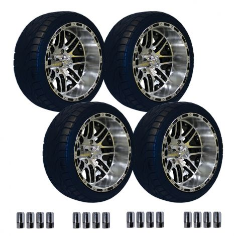 "14"" Megastar Wheel on 215/35 Street Tire Set"