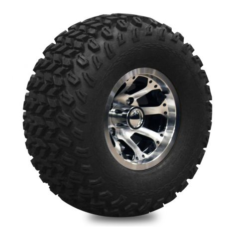 10' Octo Machined Wheel on 22' Off-Road Pro-Fit Tire - LH