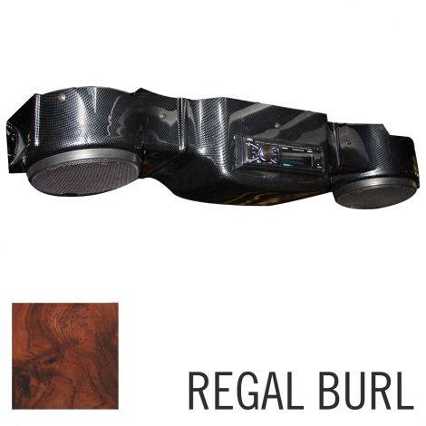 Overhead Radio Console for EZGO RXV-Regal burl