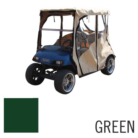 Deluxe 2 Pass Enclosure for E-Z-GO TXT | Green