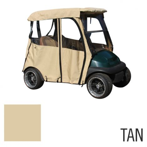 Deluxe 2 Pass Enclosure for Club Car Precedent-Tan