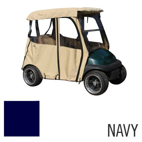 Deluxe 2 Pass Enclosure for Club Car Precedent | Navy