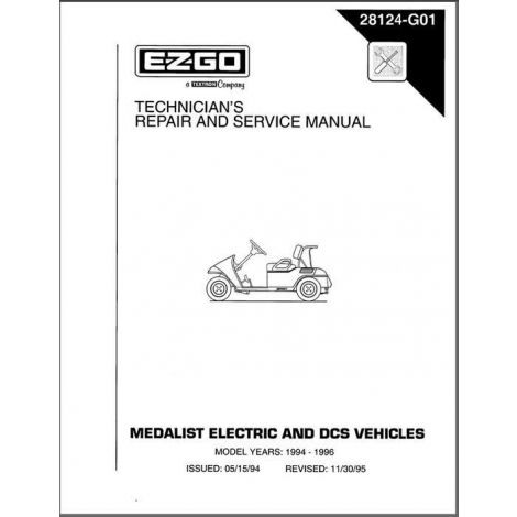 1994-1996 Repair Manual for Medalist (Fleet/Freedom/4Caddy) Golf Cars & Personal Vehicles