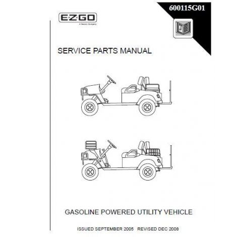2004-2006 Service Parts Manual for Gas Clays Car / Sport 2+2 Vehicles