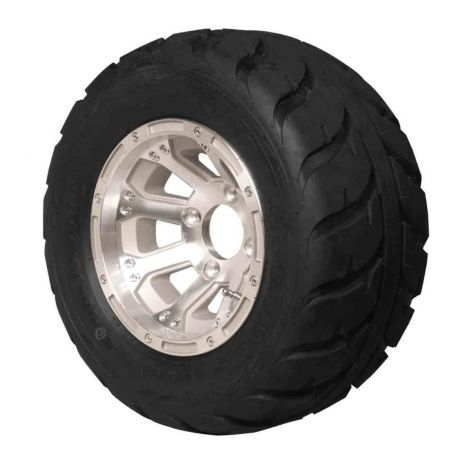 18x10.00-10 Speed Racer with Machined Diamond Wheel Assembly | Driver Side