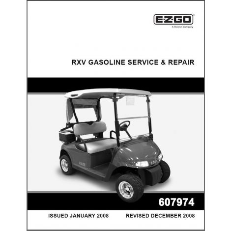 2008-2009 Repair Manual for Gas RXV Fleet/Freedom/Shuttle 2+2 Golf Cars & Personal Vehicles