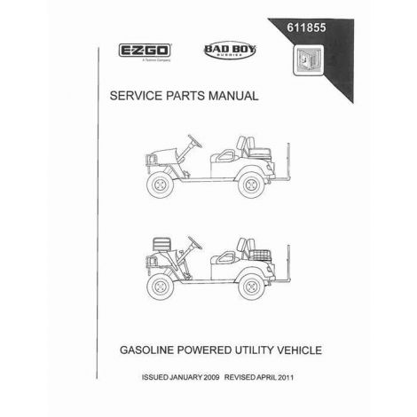 2009 Service Part Manual for ST Sport 2+2 Clays TS2