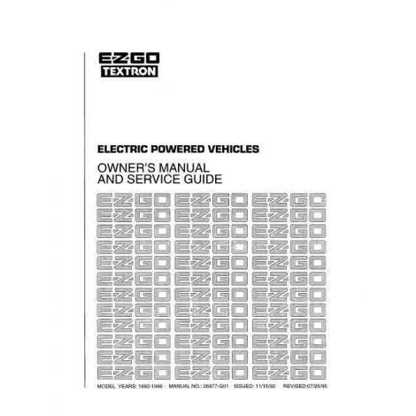 1992-1996 Owners Manual and Service Guide for Electric Utility Vehicles