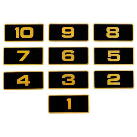 Gold Number Decals 11-20